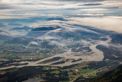Fraser River near Chilliwack and Agassiz BC