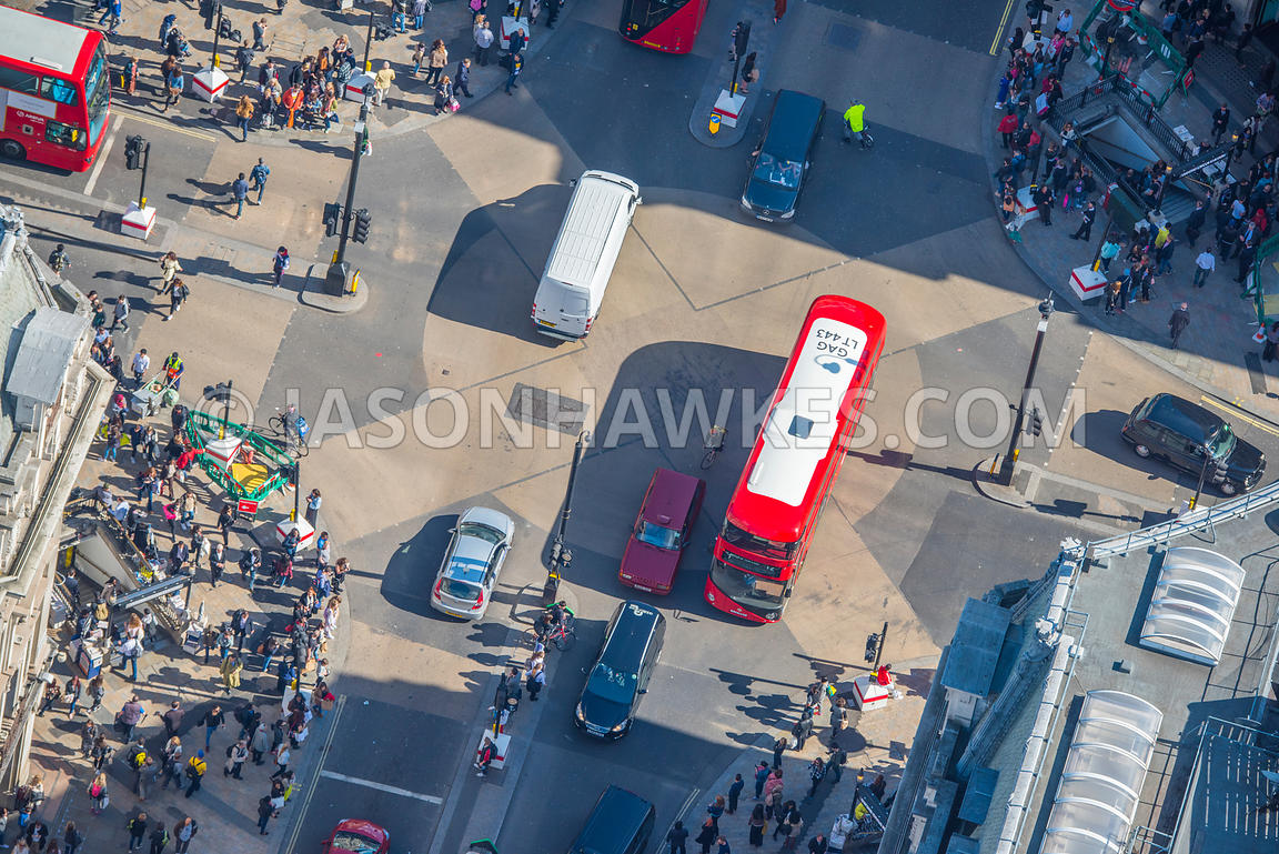 Aerial view of Oxford St, London.