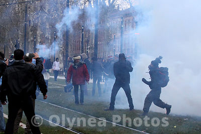 © Sebastien LAPEYRERE / Olynea photos  Toulouse France Feb,21st 2015.Protesters gather during a demonstration of the so-calle...