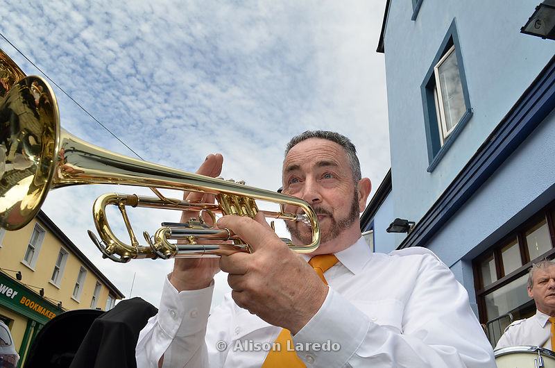 Jackie Graham, Castlebar Town Band at the Heart of Castlebar Street Festival. ©Alison Laredo