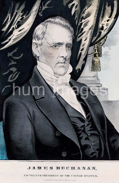James Buchanan, fifteenth president of the United States c 1857
