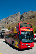 City Sightseeing bus at the Cableway Station, Cape Town, South Africa