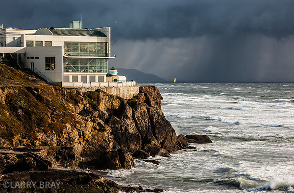 The Cliff House with stormy skies in San Francisco, USA