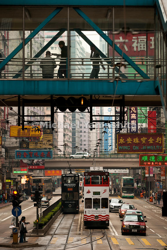 Hong Kong's Tramways, 118 trams, 6 lines, 30km, carries 240,000 passengers per day. Running since 1904. Operates from 5:30am ...