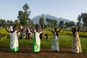 Intore dancing,Volcanoes National Park, Rwanda