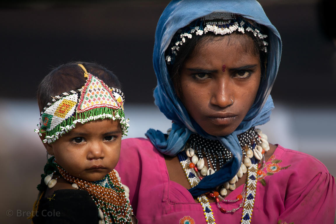 A woman and her baby from a small village outisde of Pushkar, Rajasthan, India