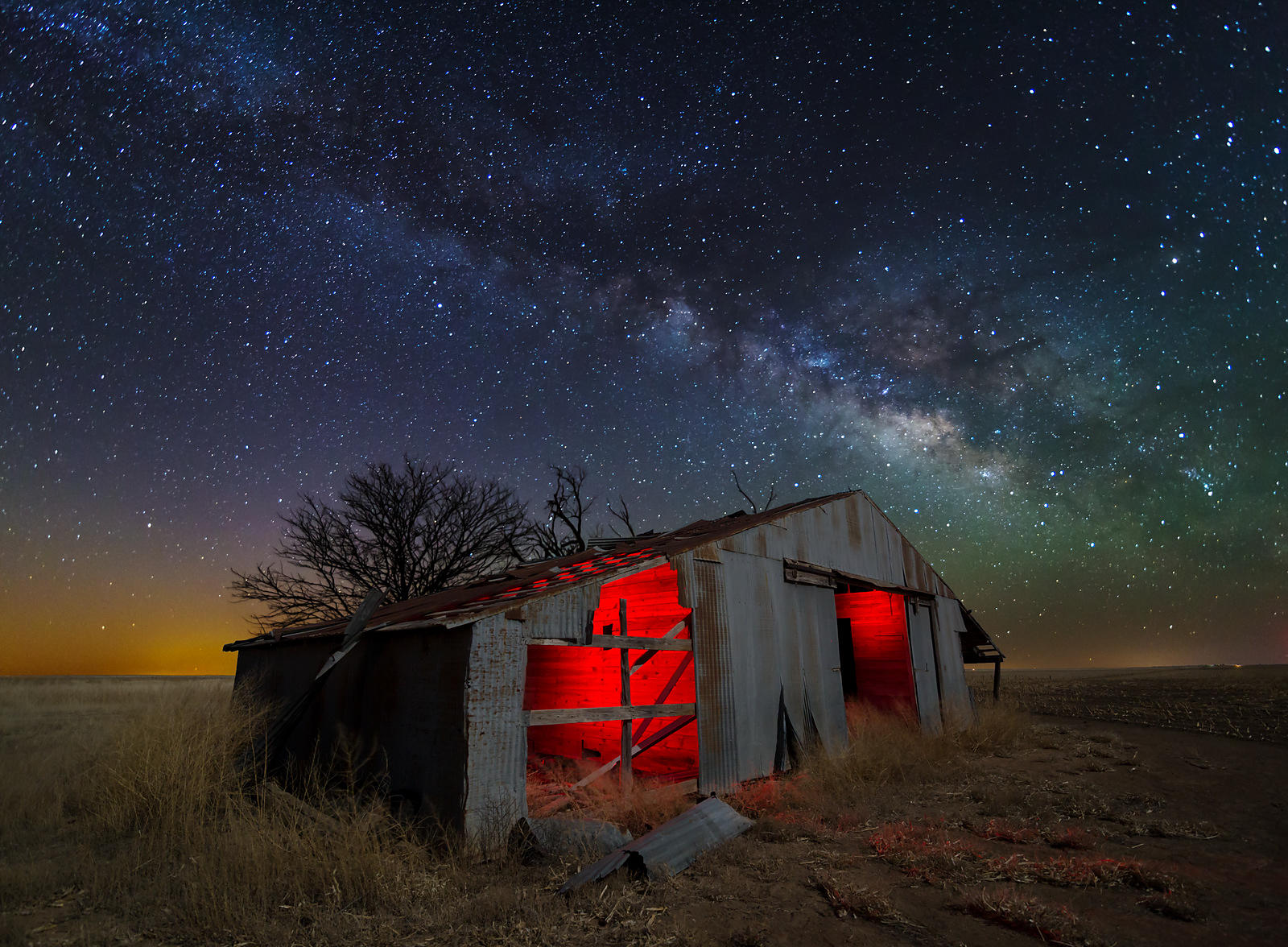 Old Barn and Milky Way