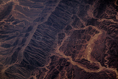 View from plane of desert, December, Pakistan.
