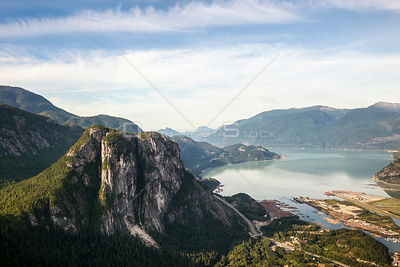 The Chief Rock Climbing and Hiking Area Squamish BC Canada.