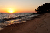 beach at sunset, lake Niassa, Mozambique
