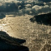 Russia. Yenisei (also written as Yenisey) River near Sayano-Shushenskaya Dam. Yenisei is the largest river system flowing to ...