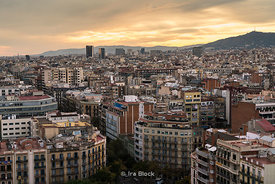 View of Barcelona from Sagrada Família church in Barcelona, Spain.