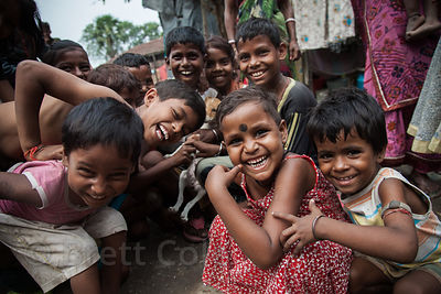 Happy, independent kids in Howrah, India