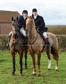 Chloe Shann, Sam Vaughan-Jones At the Meet. The Belvoir Hunt at Sheepwash 29/12