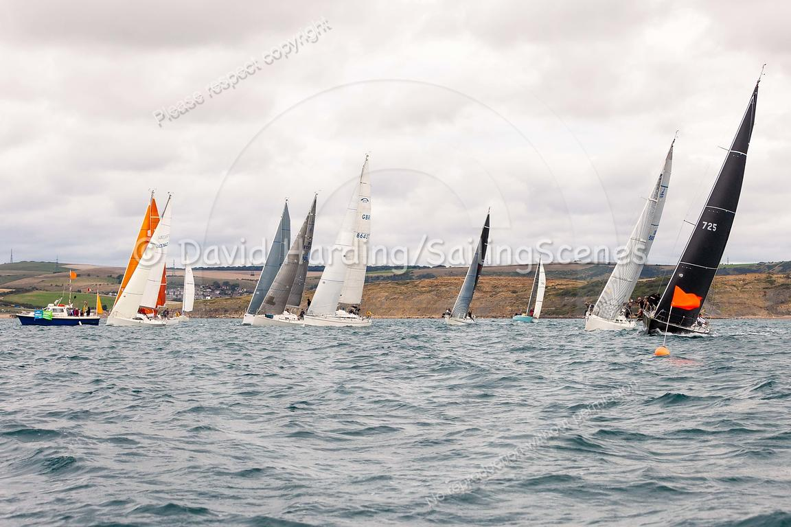 IRC 3 start, Weymouth Regatta 2018, 20180908868.