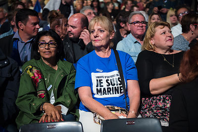 Marine Le Pen campaign rally in Marseille