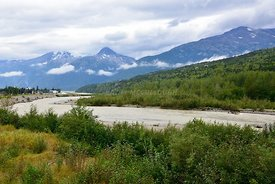 Skagway River and Harding Glacier