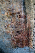 Diana's Vow rock painting, Eastern Highlands, Zimbabwe