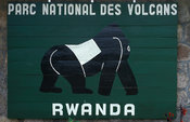 Signboard, Virunga Mountains, Volcanoes National Park, Rwanda