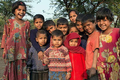 Children of the Cheeta caste in Kharekhari village, Rajasthan, India