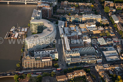 London. Aerial view of Albion Riverside