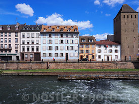 The historic part of Strasbourg