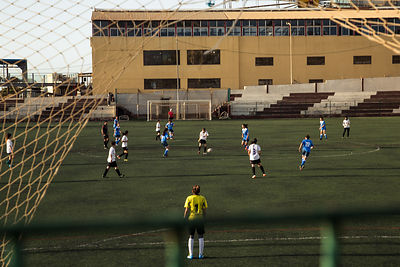 Moment du derby de la ligue feminin libanaise entre Girls Football Academy de Beyrouth et Football Club Beyrouth: en jeu la d...