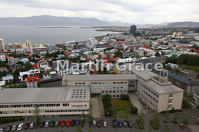 Reykjavik from the tower of Hallgrimskirkja
