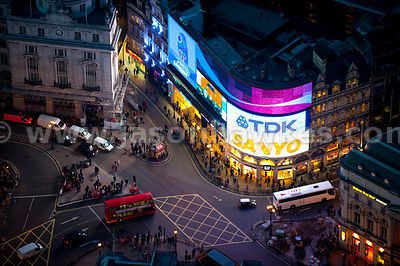 Piccadilly Circus at night, London