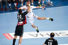 Ilija ABUTOVIĆ of Vardar, Luka ŠEBETIĆ of PPD Zagreb during the Final Tournament - Final Four - SEHA - Gazprom league, semi f...