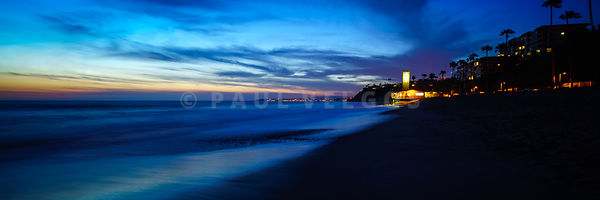 San Clemente CA Sunset Panorama Photo