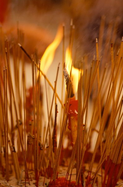 Burning Joss sticks