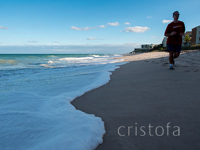 jogger on the beach at Vero Beach