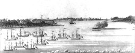 Charlestown, SC after attack on Fort Moultrie, June 1776