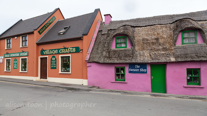 Painted thatched cottages, Doolin village, County Clare, Ireland