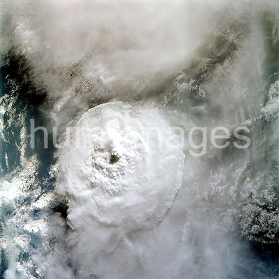 (March 1969) --- Near vertical view of thunderhead over South America as photographed from the Apollo 9 spacecraft during its...