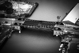 Chicago 95th Street Bridge Aerial Black And White Picture