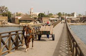 bridge leading to the cemetery, Fadiout island, Petit Côte, Senegal