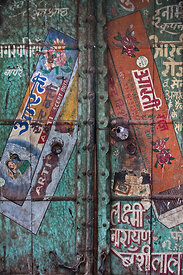 Wonderfully painted old doors in Jodhpur, Rajasthan, India