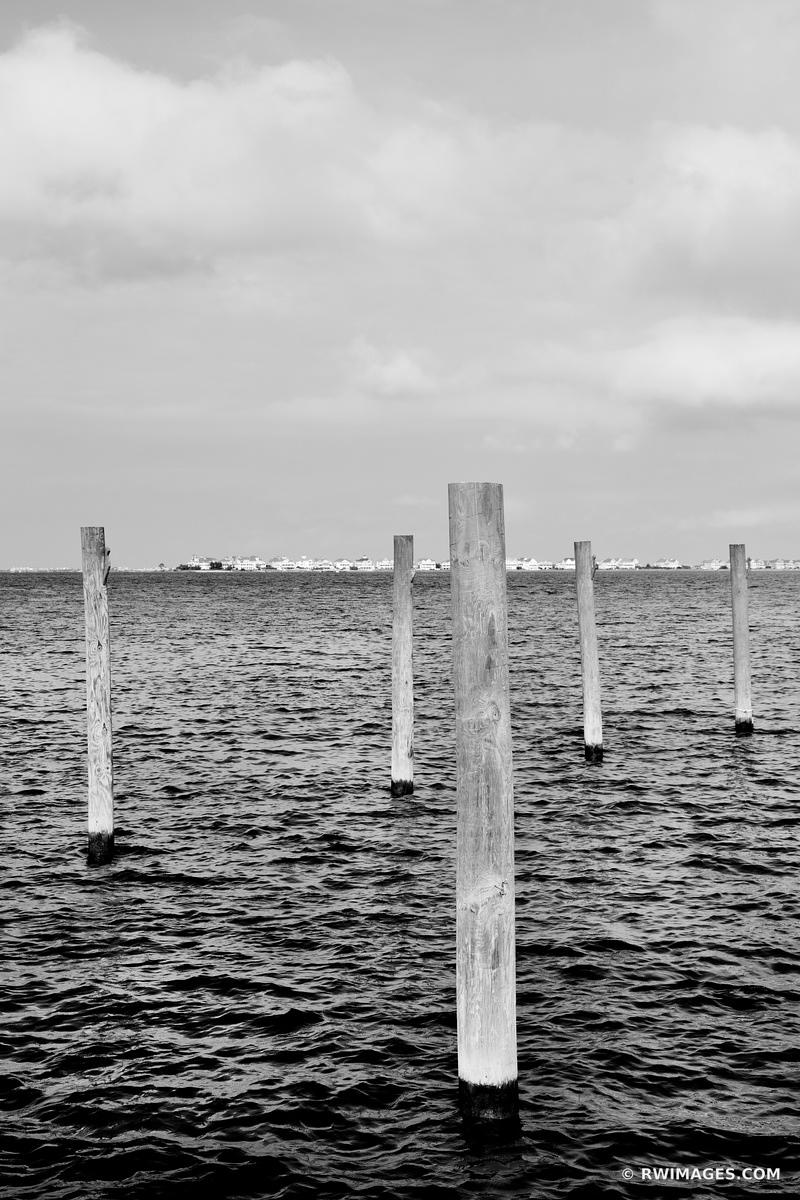 ROANOKE MARSHES MANTEO OUTER BANKS NC BLACK AND WHITE