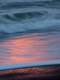 Beach Foam Sunset 4