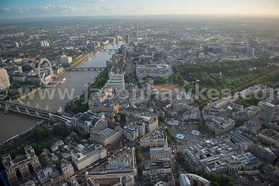 Aerial view of Westminster looking West, London