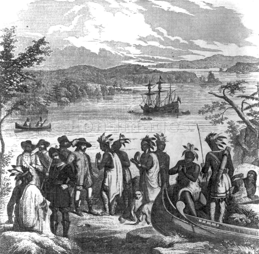 Henry Hudson descends Hudson River
