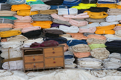 Tarps for sale in Pushkar, Rajasthan, India