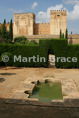 The enclosed Patio de Machuca (Machuca's Courtyard) outside the Hall of the Mexuar, Nasrid Palaces, Alhambra, looking towards...