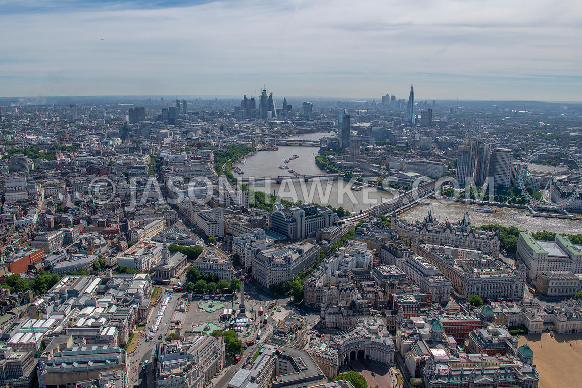 London, aerial view of Westminster