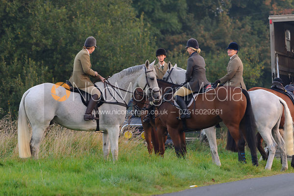 The Cottesmore Hunt at America Lodge Crossroads 23/9