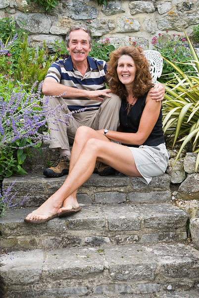 Christopher and Christine Russell. The Shute, nr Ventnor, Isle of Wight, UK