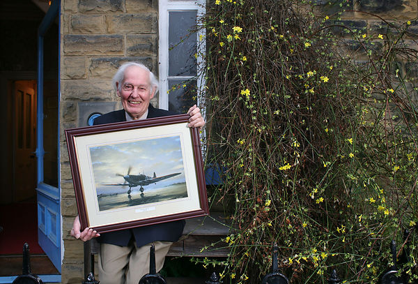 Mr Jimmy Taylor, 87, a former RAF pilot