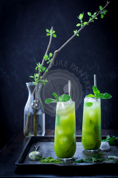 Mint iced matcha green tea